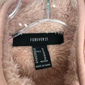 Forever 21 Tops - Forever 21 Pink Fuzzy 1/4 Zip Pull Over Warm 1132